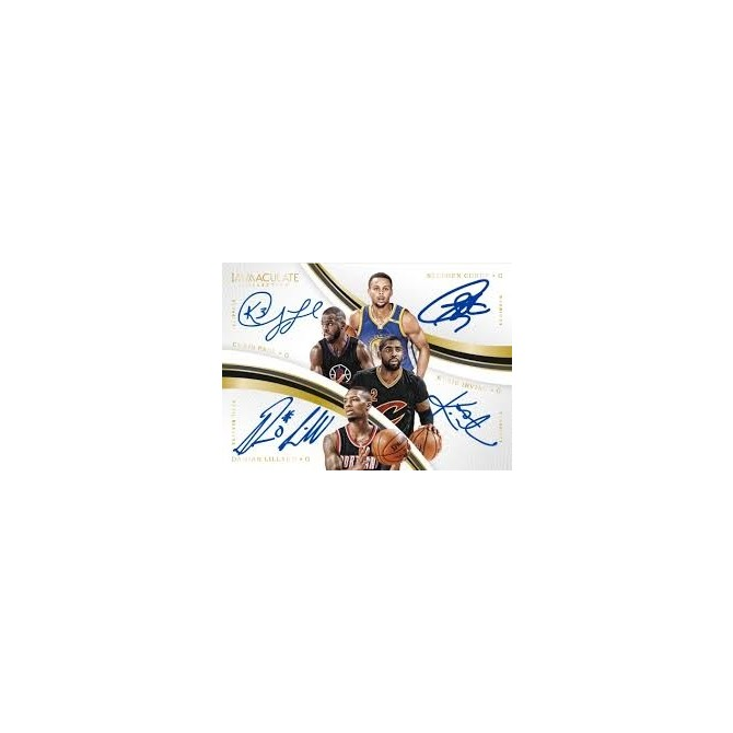 2016/17 Immaculate Basketball Full Case Random Number Block #4 **LOGOMAN CHASE PROMO**